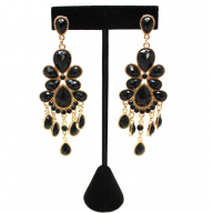 Stone Chelier Statement Earrings