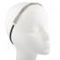 Silvertone Braided Mesh Crystal Rhinestone Stretch Headband