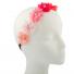 Multi Color Peach Pink Rainbow Floral Flower Crystal Stretch Headband Head Band