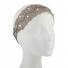 Nude Mesh Embroidered Lace and Glitz Head wrap Stretch Headband