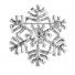 Silver Tone Xmas Holiday Bling Snowflake Novelty Brooch Pin