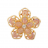 Glam Pink Stone Stone Flower Floral Ring