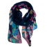 Navy Butterfly Printed Chiffon Scarf