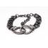 Rhinestone H Cuff Bracelet