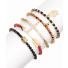 Arrow Hamsa Buddha Evil Eye Cross Beaded Rhinestone Arm Candy Friendship Stretch Bracelet Set (5 PC)
