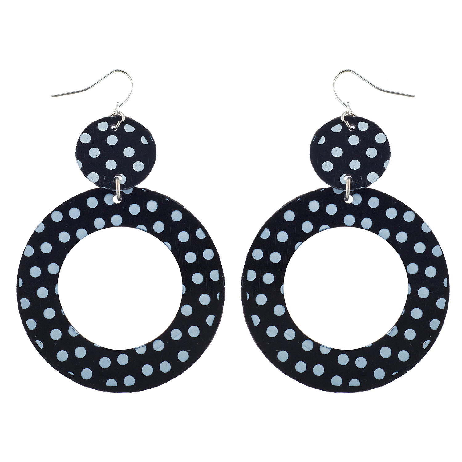 Details About Lux Accessories Black White Polka Dot Sungles Scarf Earrings 50 S Costume Set